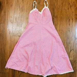 Vintage Gilead pink striped lingerie slip dress-34